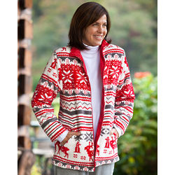 Reversible Winter Fleece Coat