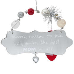 Mom Mirror Oval Plaque