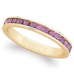 18 Karat Gold-Plated June Birthstone Eternity Ring