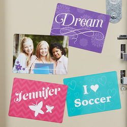 Fun Girl Personalized School Locker Magnets