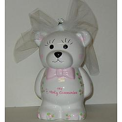 Personalized First Holy Communion Bear Bank