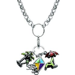 Fun in the Sun Silver Charm Necklace