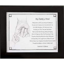 Personalized My Daddy or Grandpa's Hand Poetry Print