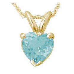 Heart Shape Aquamarine Pendant