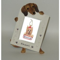 Personalized Red Dachshund Small Dog Picture Frame