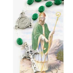 St. Patrick Auto Rosary and Prayer Card
