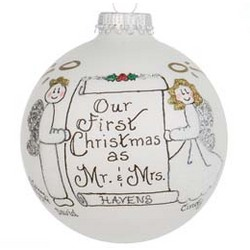 Our First Christmas as Mr. & Mrs. Personalized Christmas Ornament