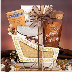 Truffle and Chocolate Sleigh Gift Basket