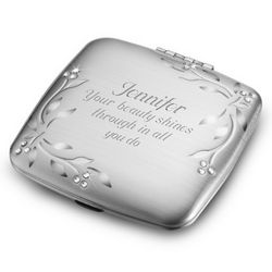 Personalized Leaves and Vines Compact Mirror