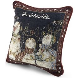 Personalized Snow Much Fun Snowmen Pillow
