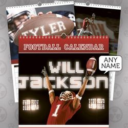 Personalized American Football Calendar