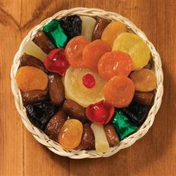 Dried Fruit in Round Basket
