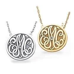 Medium Size Letter Monogram Necklace