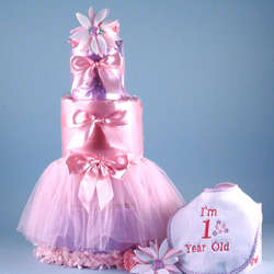Baby's First Birthday Tutu Diaper Cake