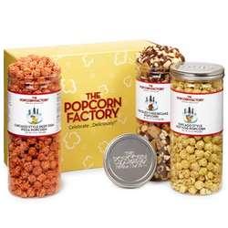 Chicago Birthday 3-Canister Popcorn Set