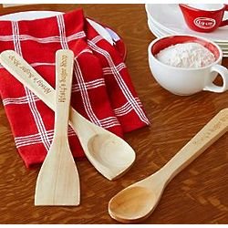 Personalized Maple Wood Utensil Set