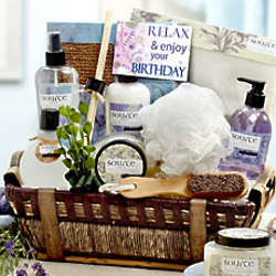 It's Your Birthday Relax in Luxury Spa Gift Basket