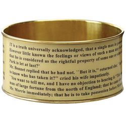 Pride and Prejudice Literary Tan Bangle