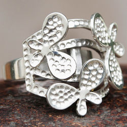 Butterfly Bliss Sterling Silver Cocktail Ring