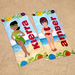 Personalized Beach Babe Towel