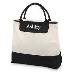 Large Canvas Personalized Tote Bag