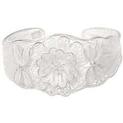 God's Garden Sterling Silver Filigree Bracelet