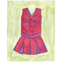 Personalized Cheerleader Watercolor Canvas