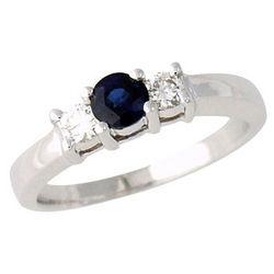 Three Stone Sapphire and Diamond Ring
