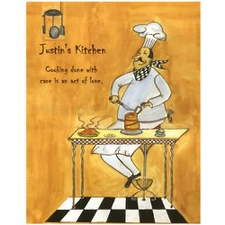Chef's Kitchen Personalized Print