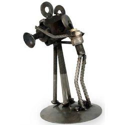 Rustic Camera Man Iron Statuette