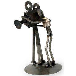 Rustic Camera Man Iron Statuette