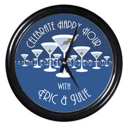 Personalized Martini Horizon Clock