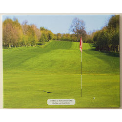 Personalized Perfect Day Golf Photo Canvas Art Print