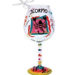 Scorpio Mini Wine Glass Ornament