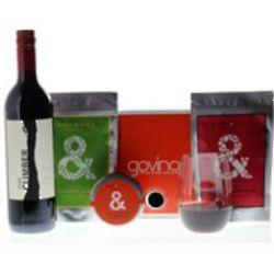 Govino Glasses, Red Wine and Snack Set