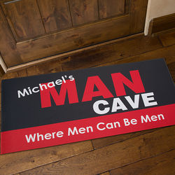 Large Personalized Man Cave Doormat