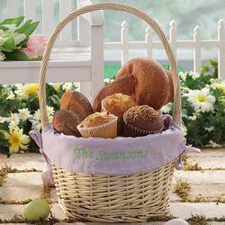 Personalized Hostess Lavender Liner Easter Basket