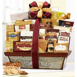 Vintage Scroll Gourmet Gift Basket