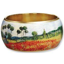 Van Gogh Poppy Field Brass Bangle