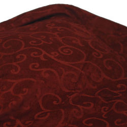 Queen Chenille Red Bed Throw Blanket