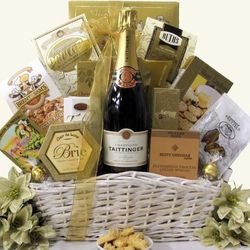 Simply Chic Taittinger Brut French Champagne Gift Basket
