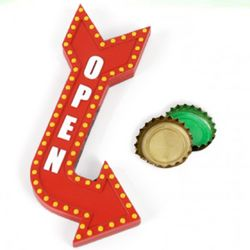 Open Here Bottle Opener
