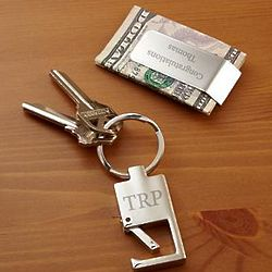 Personalized Deal Maker Money Clip and Key Chain Gift Set