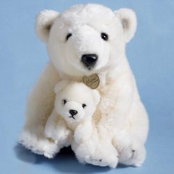 Polar Bear with Cub Plush Stuffed Animal
