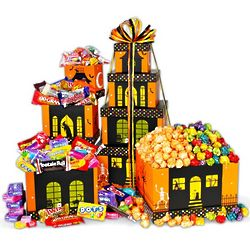 Halloween Haunted House Treat Gift Tower