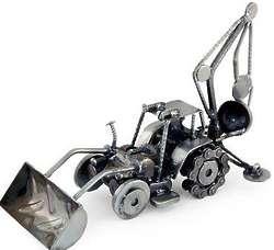 Rustic Bulldozer Digger Auto Part Sculpture