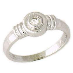 Bezel Set Diamond Solitaire Ring
