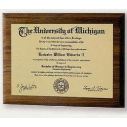 Graduation Diploma Plaque