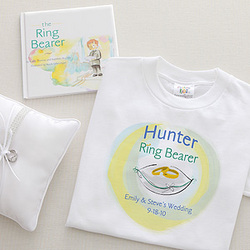 Personalized Ring Bearer T-Shirt & Book Set