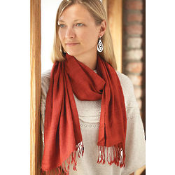 Red Spice Cruelty-Free Silk Scarf